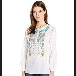 Dylan by True Grit Women's Embroidered Blouse